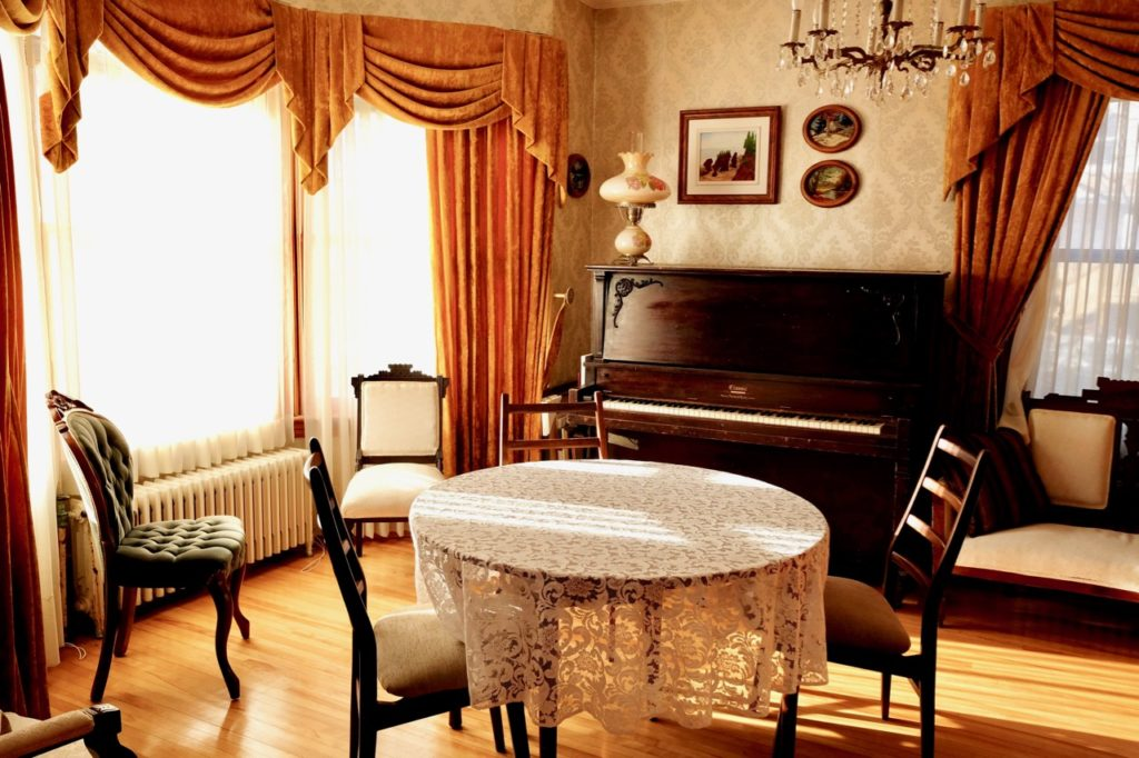The Vienneau guest parlour, named after the family who cared for the house for 67 years.