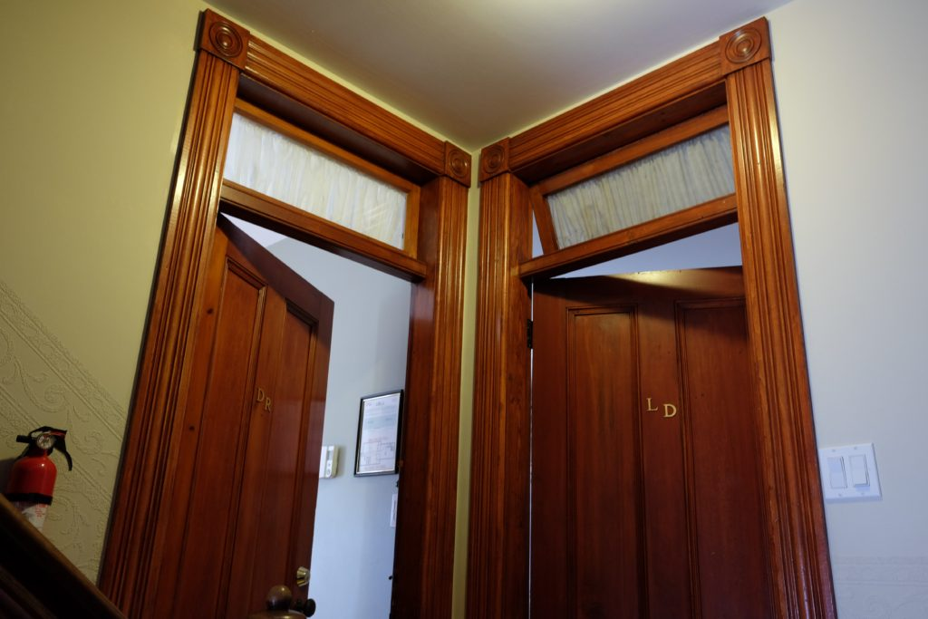 Fine craftsmanship can be seen throughout the house.